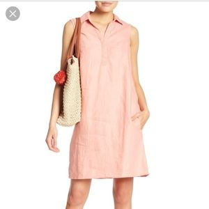 Coral Beachlunchlounge 100% Linen Leandra Dress